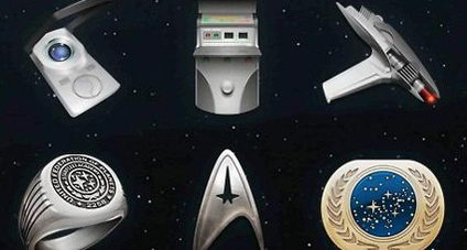 Spacecraft, badges, paid the light gun icon