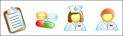 Doctors, nurses icon vector material