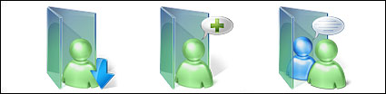 Vista style msn computer folder icon png