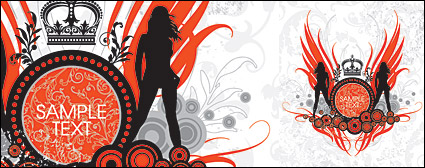 Women and pattern vector-6